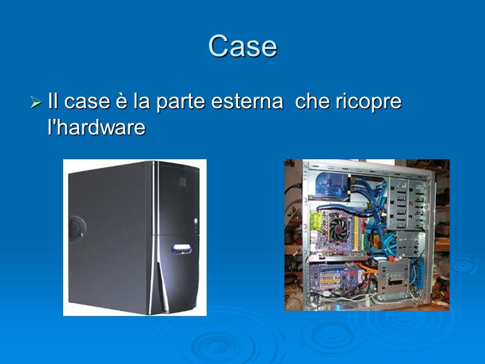 Case Il case è la parte esterna che ricopre l hardware