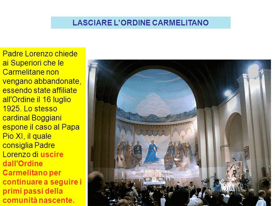 LASCIARE L'ORDINE CARMELITANO
