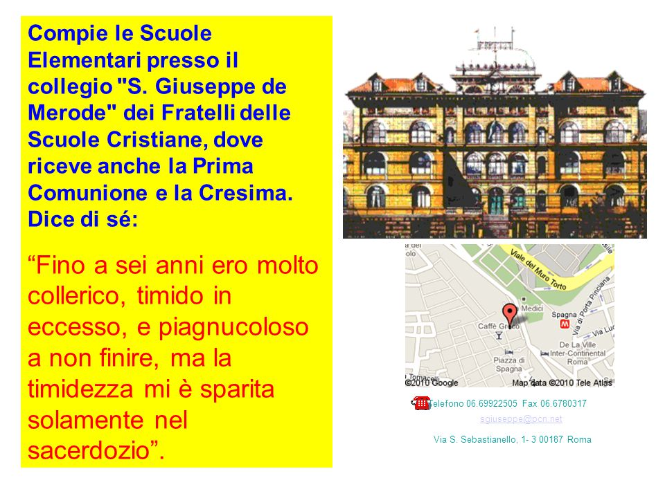 © Collegio San Giuseppe-Istituto De Merode 1996-2003
