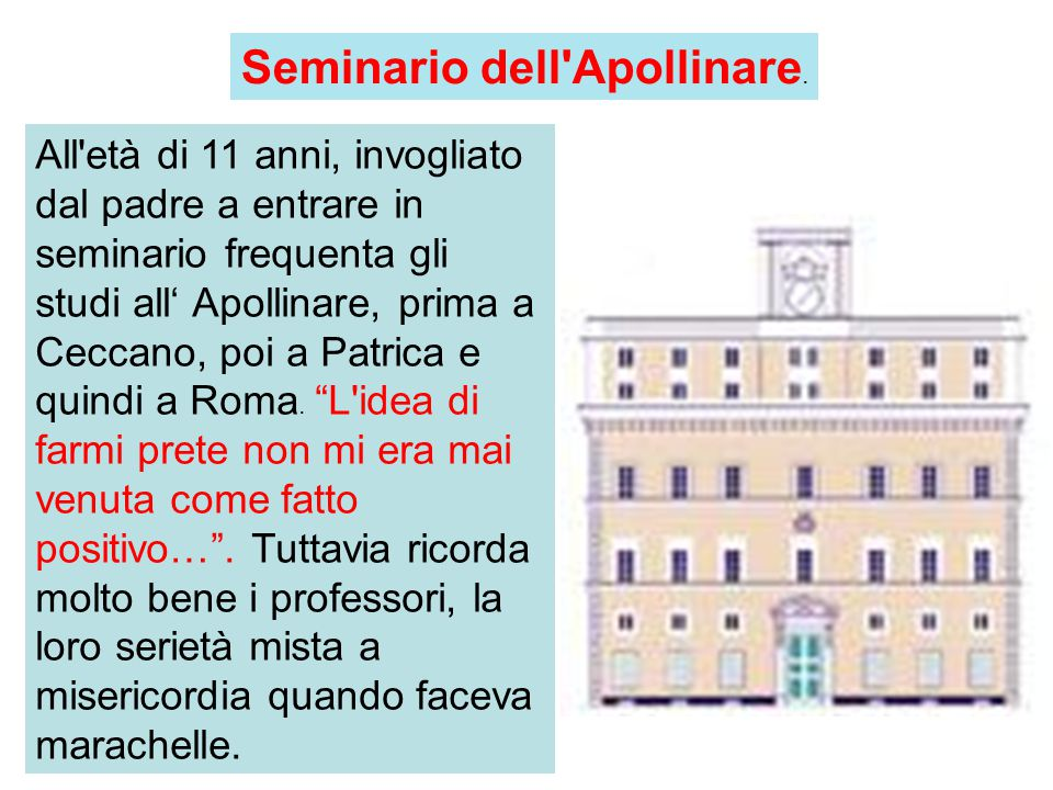 Seminario dell Apollinare.