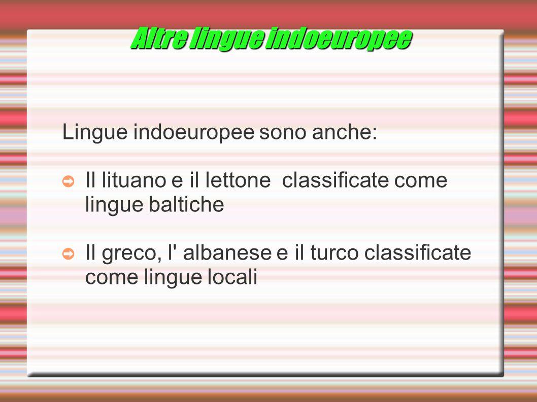 Altre lingue indoeuropee