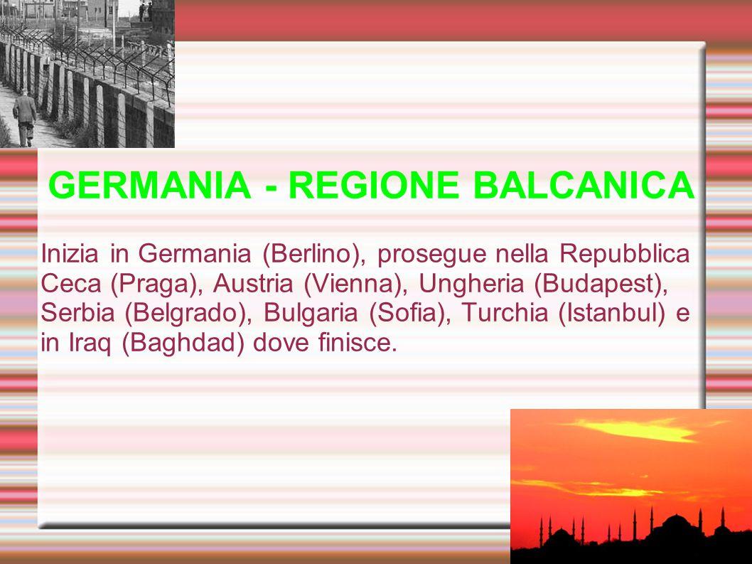 GERMANIA - REGIONE BALCANICA