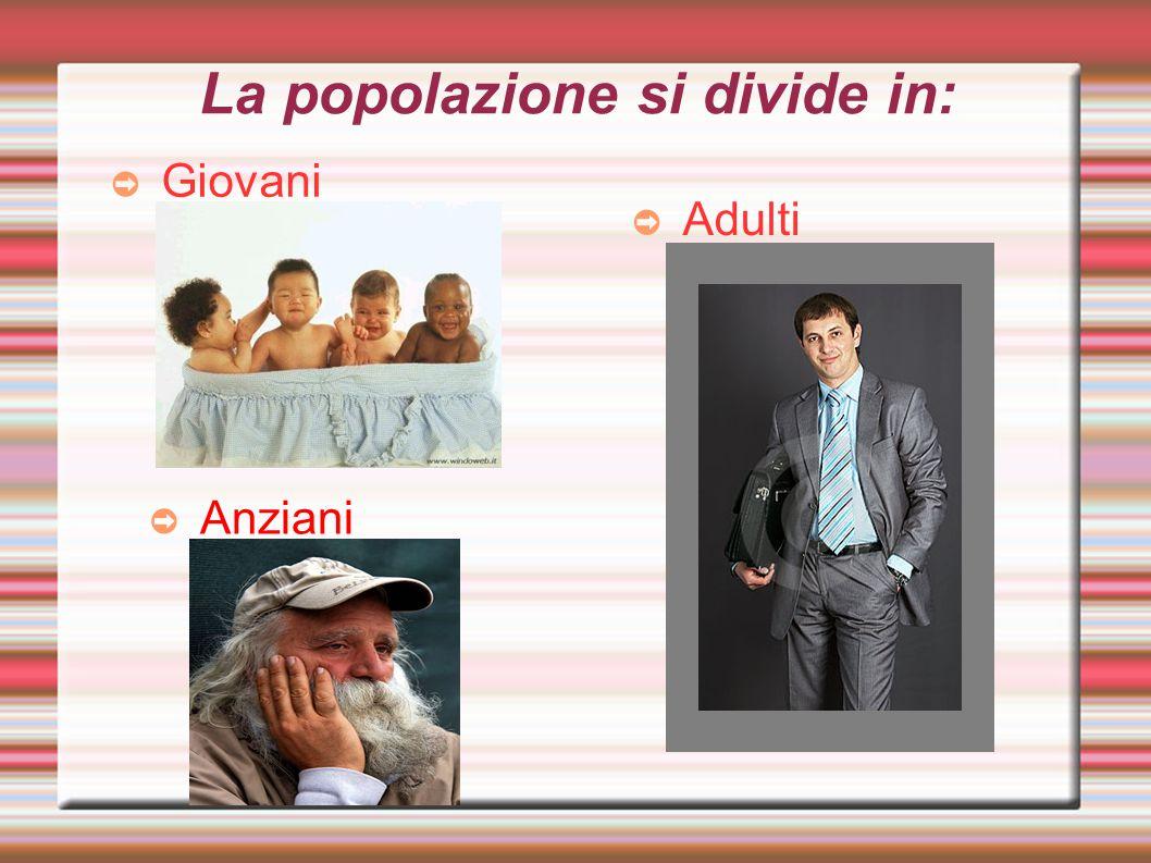 La popolazione si divide in: