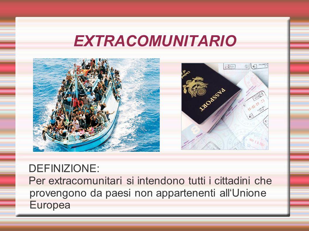 EXTRACOMUNITARIO DEFINIZIONE: