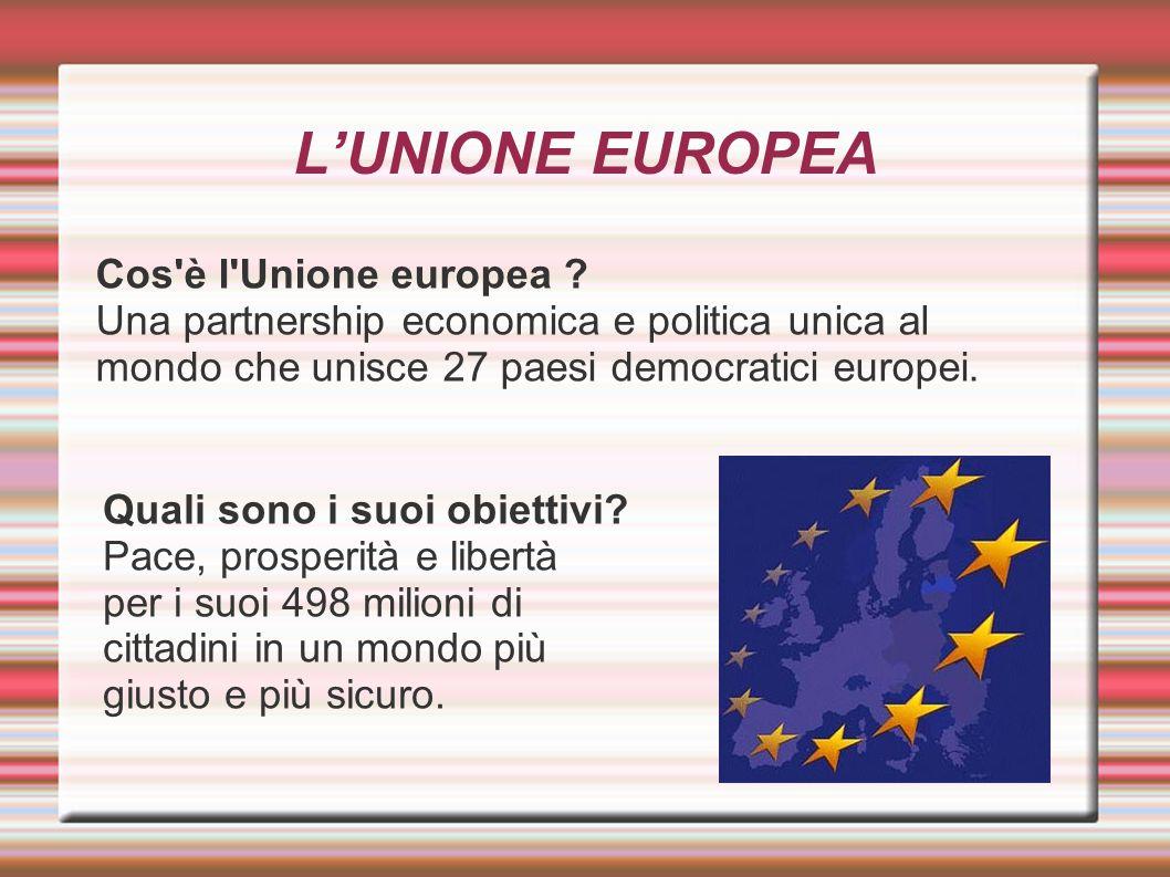 L'UNIONE EUROPEA Cos è l Unione europea