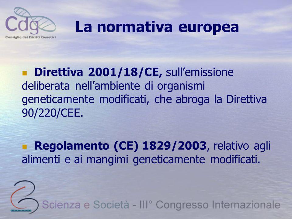 La normativa europea