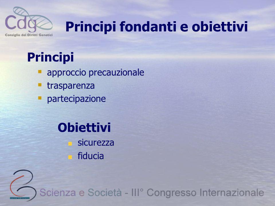 Principi fondanti e obiettivi