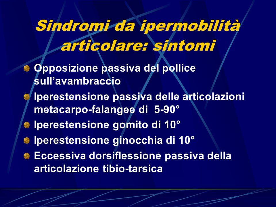 Sindromi da ipermobilità articolare: sintomi