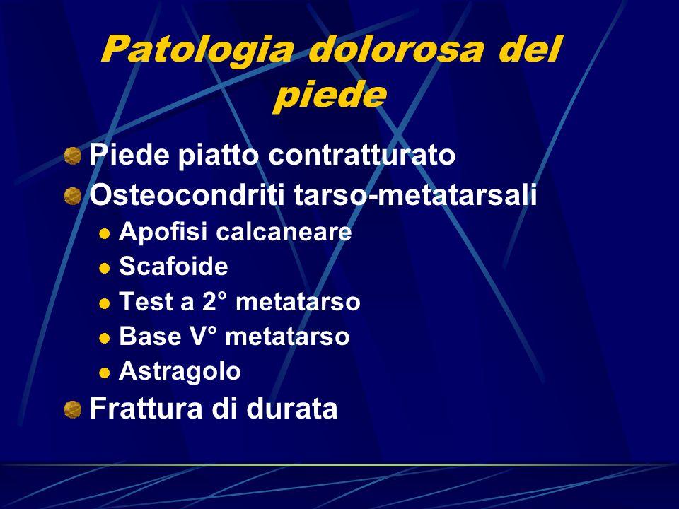 Patologia dolorosa del piede