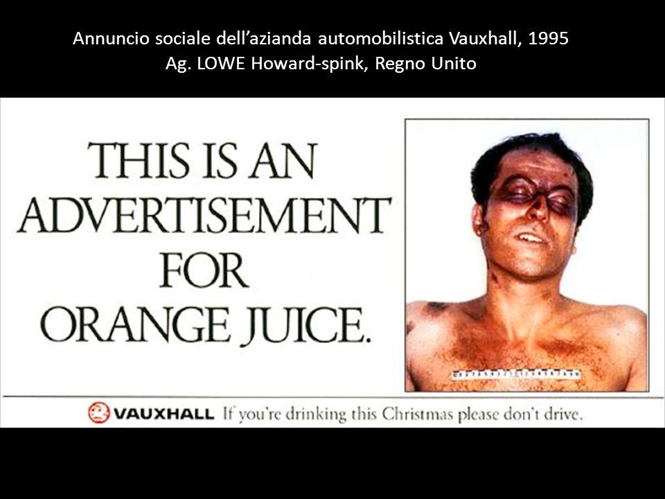 Annuncio sociale dell'azianda automobilistica Vauxhall, 1995 Ag