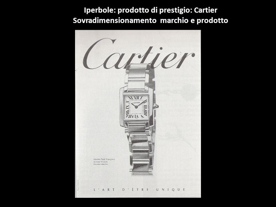 Iperbole: prodotto di prestigio: Cartier Sovradimensionamento marchio e prodotto