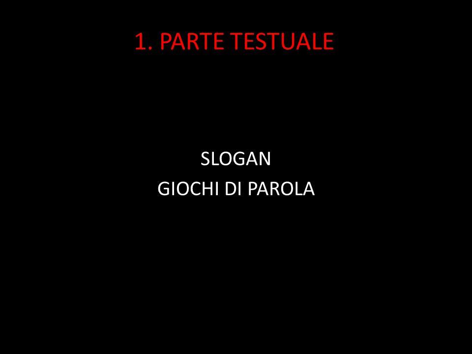 1. PARTE TESTUALE SLOGAN GIOCHI DI PAROLA