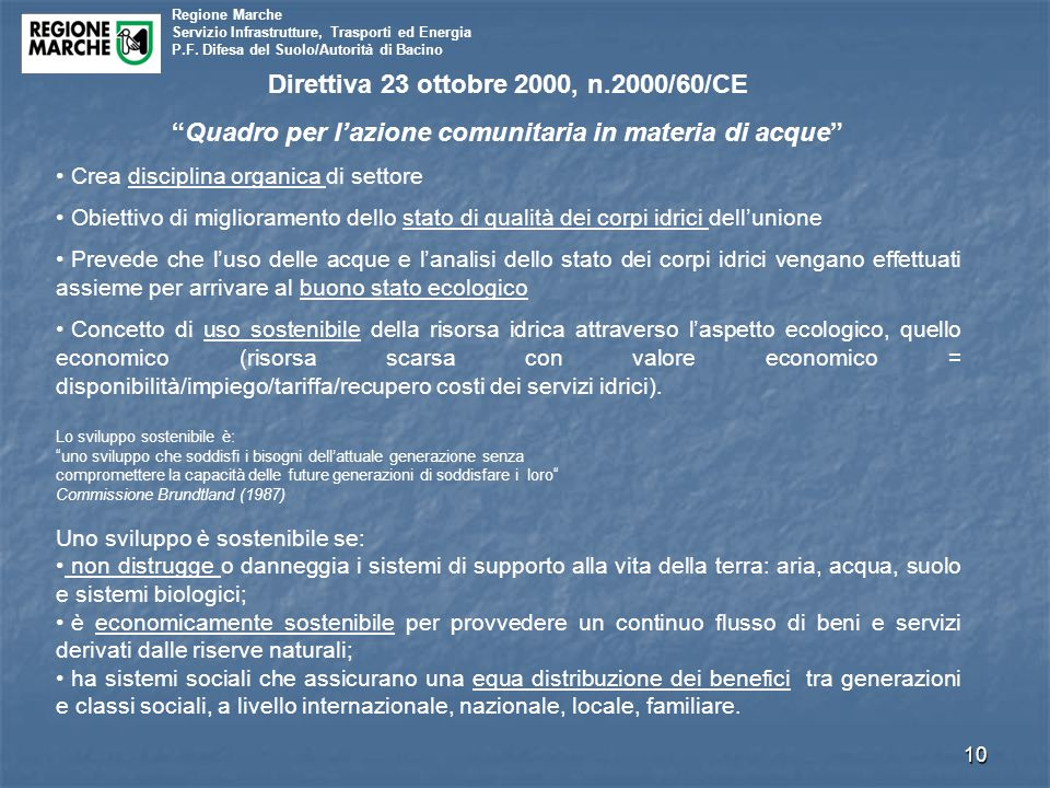 Direttiva 23 ottobre 2000, n.2000/60/CE
