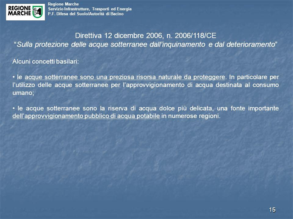 Direttiva 12 dicembre 2006, n. 2006/118/CE