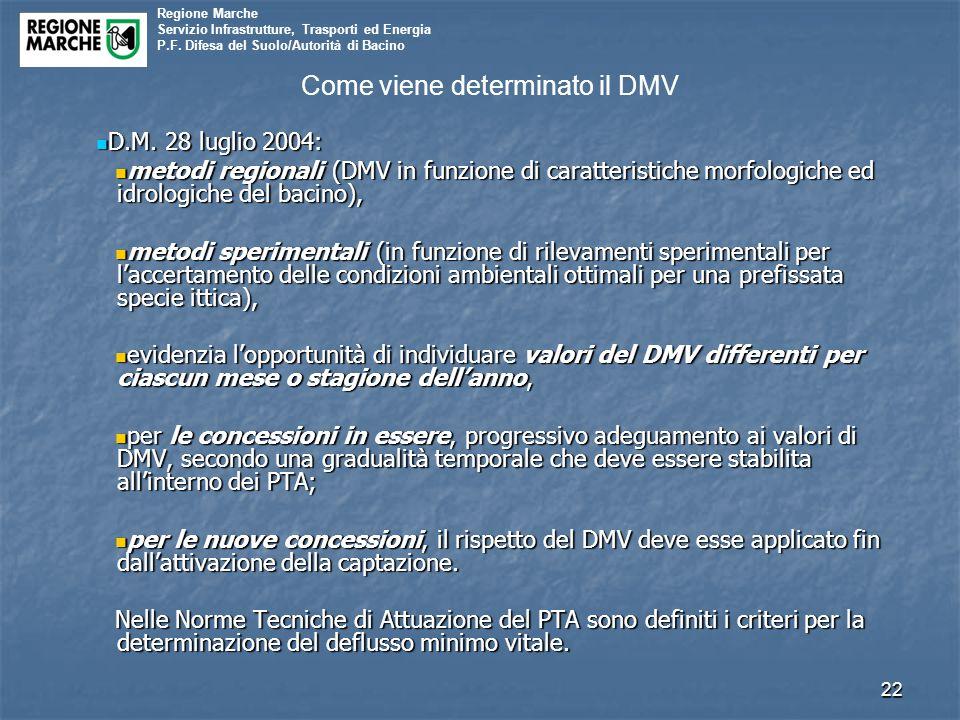 Come viene determinato il DMV