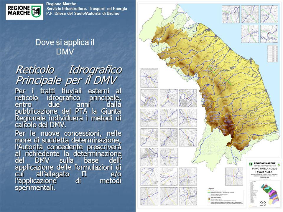 Reticolo Idrografico Principale per il DMV