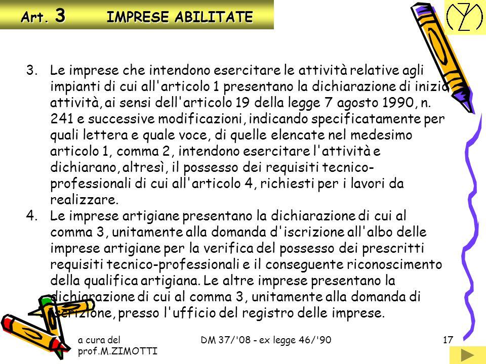 Art. 3 IMPRESE ABILITATE