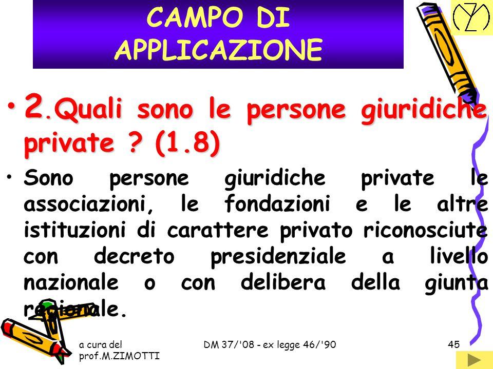2. Quali sono le persone giuridiche private (1.8)