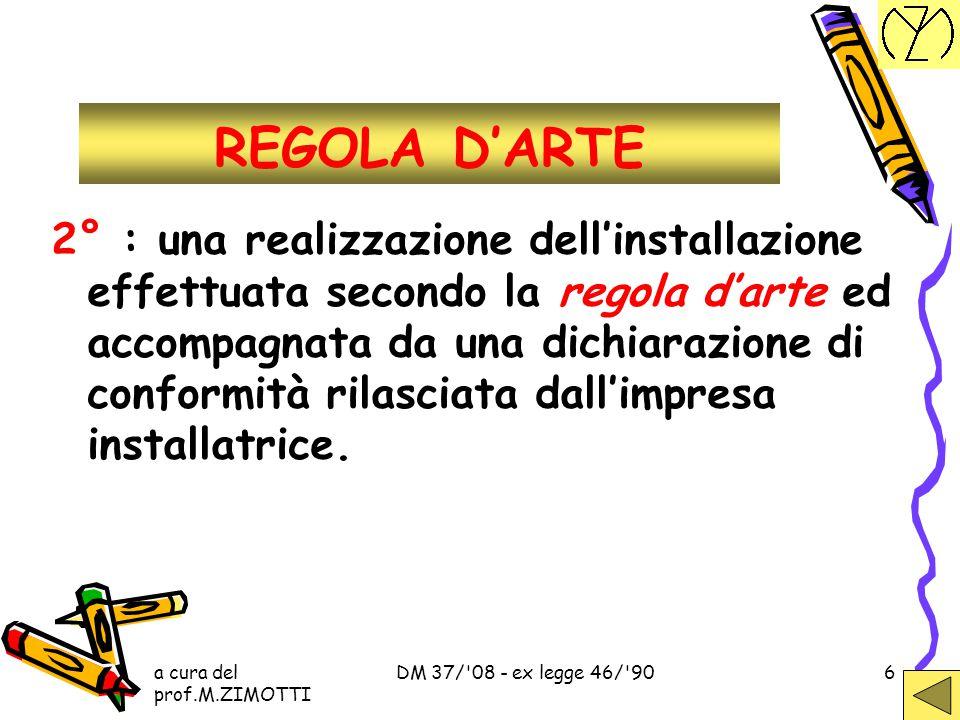 REGOLA D'ARTE