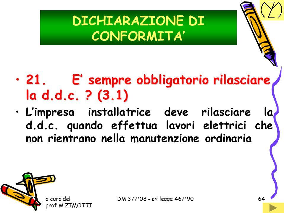 DICHIARAZIONE DI CONFORMITA'