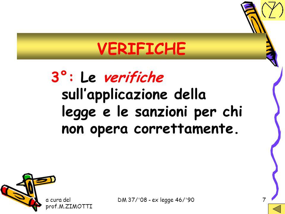 VERIFICHE 3°: Le verifiche sull'applicazione della legge e le sanzioni per chi non opera correttamente.