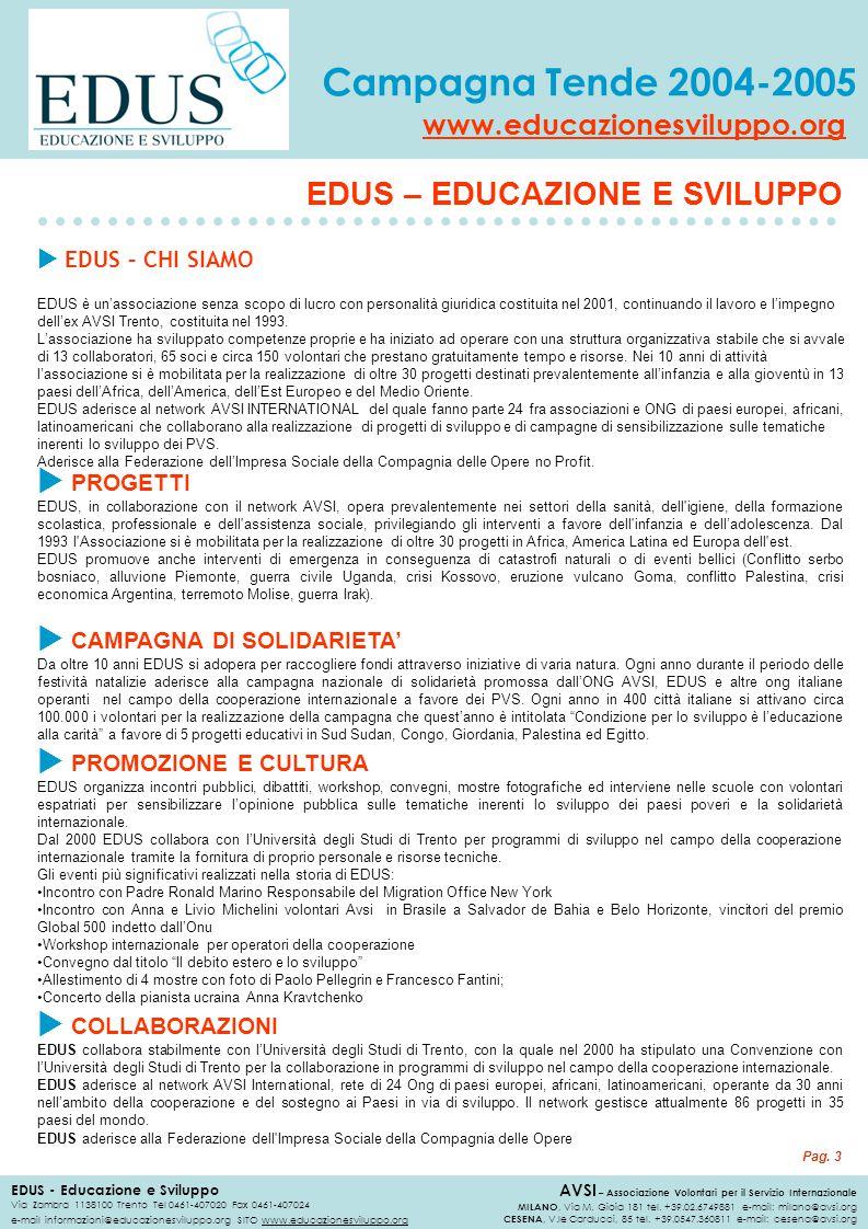 EDUS – EDUCAZIONE E SVILUPPO