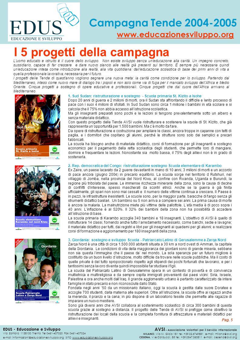 I 5 progetti della campagna