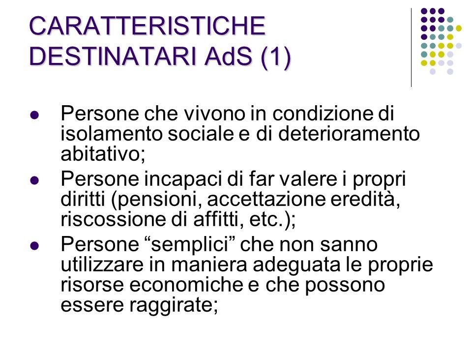 CARATTERISTICHE DESTINATARI AdS (1)