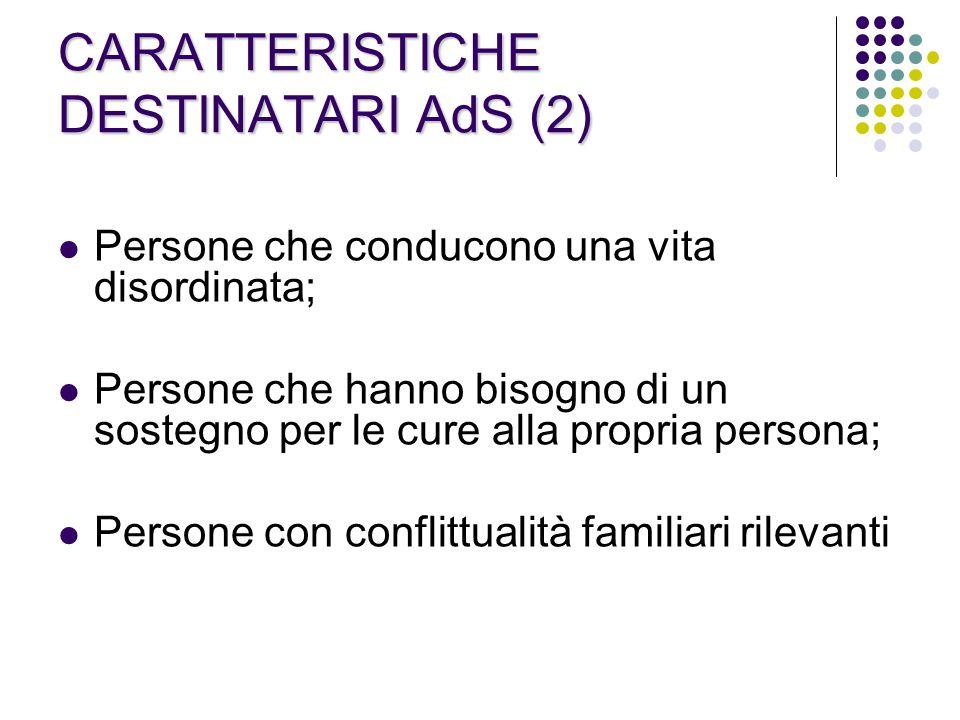 CARATTERISTICHE DESTINATARI AdS (2)