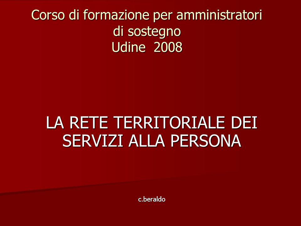 Corso di formazione per amministratori di sostegno Udine 2008