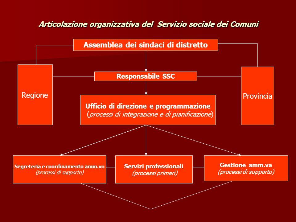 Articolazione organizzativa del Servizio sociale dei Comuni
