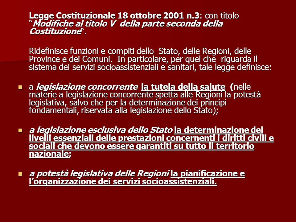 Legge Costituzionale 18 ottobre 2001 n