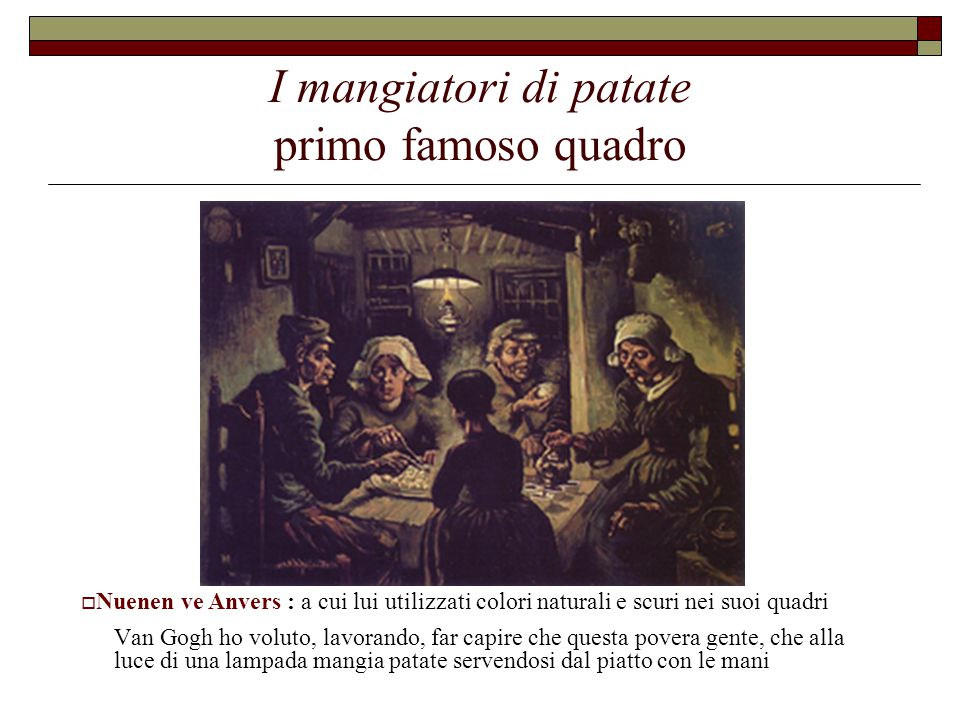 I mangiatori di patate primo famoso quadro
