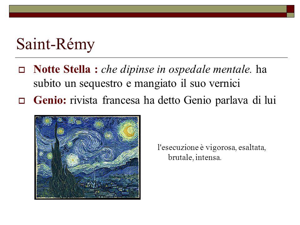 Saint-Rémy Notte Stella : che dipinse in ospedale mentale. ha subito un sequestro e mangiato il suo vernici.
