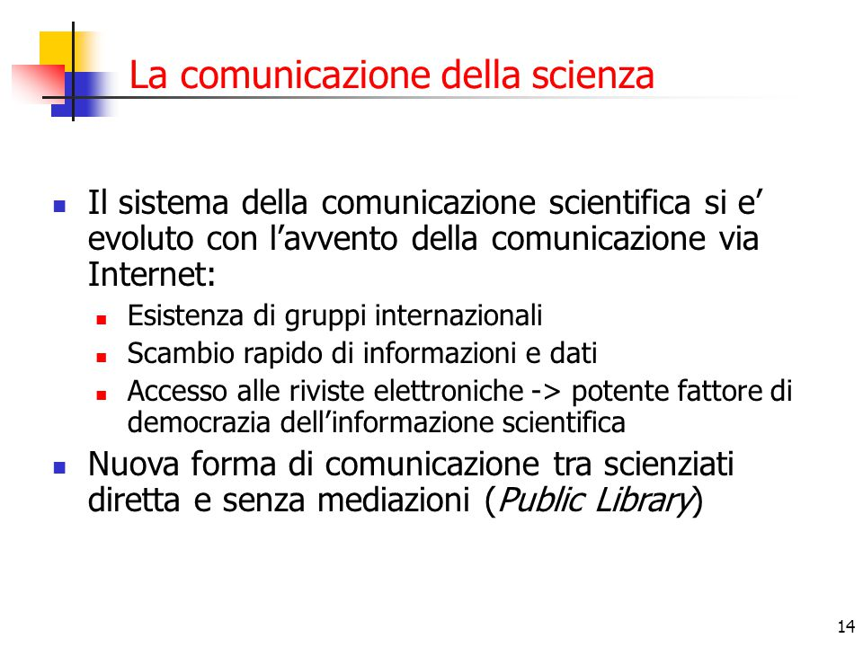 La comunicazione della scienza