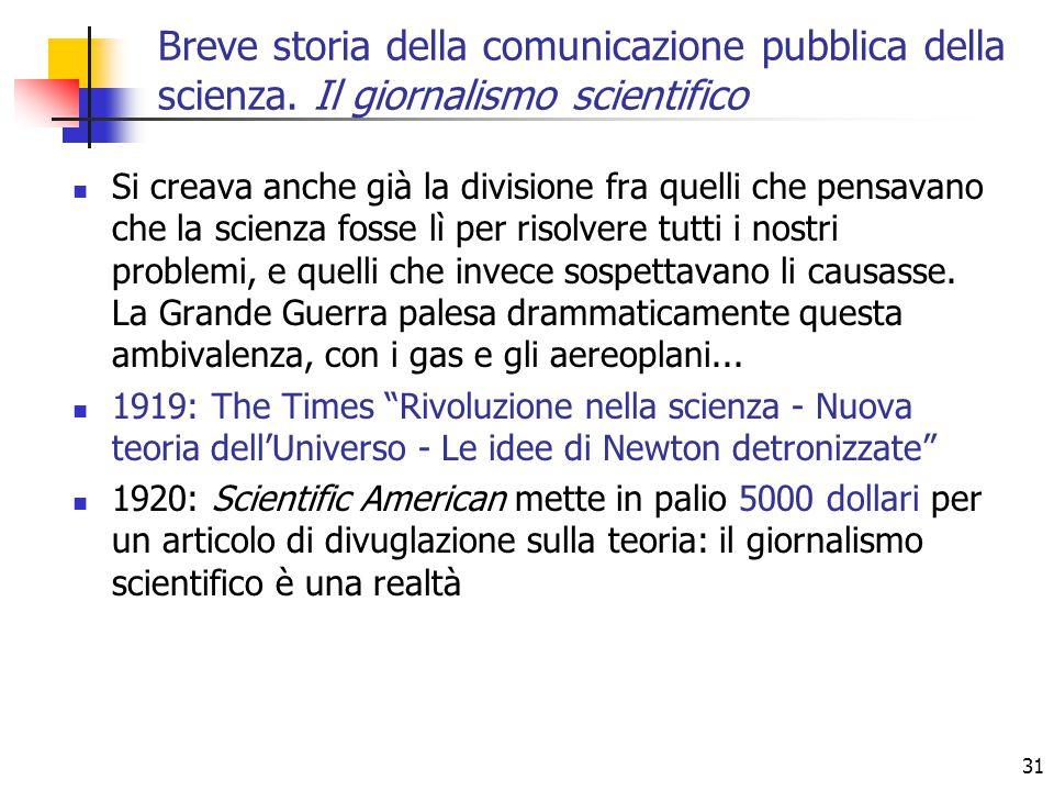 Breve storia della comunicazione pubblica della scienza