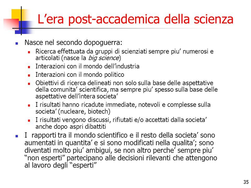 L'era post-accademica della scienza