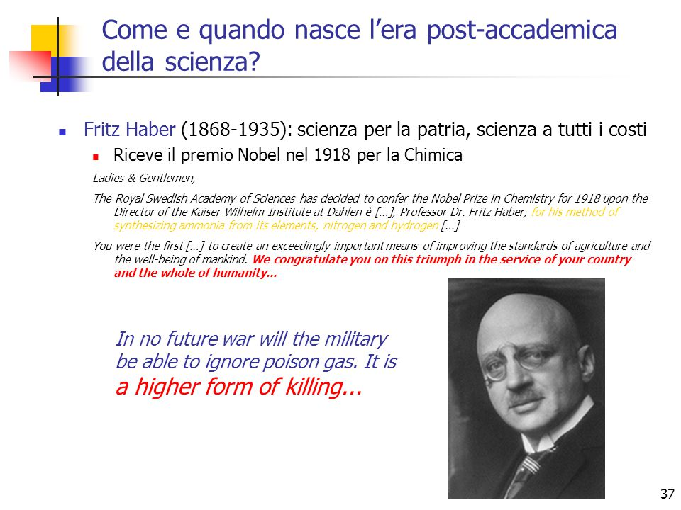 Come e quando nasce l'era post-accademica della scienza