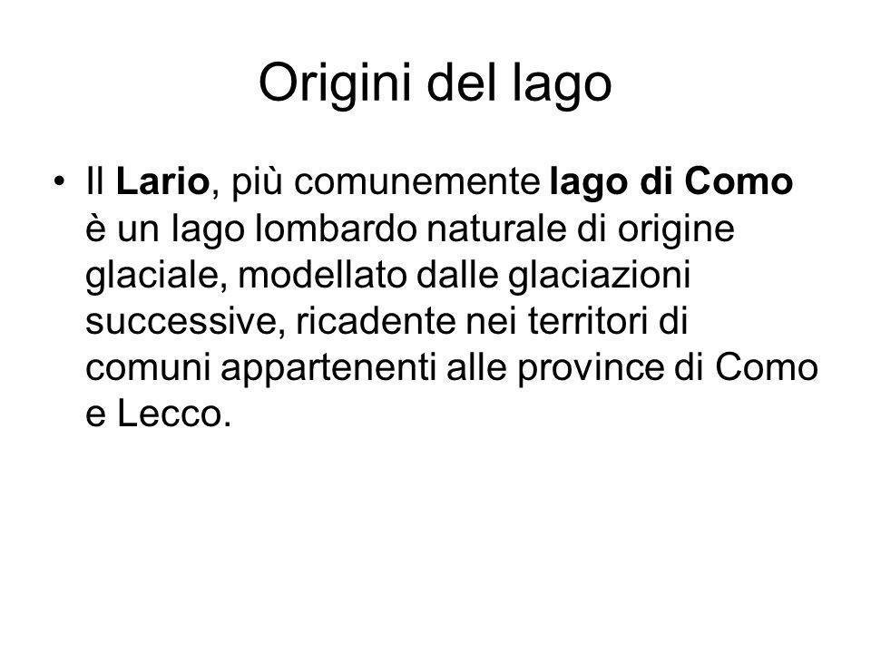 Origini del lago