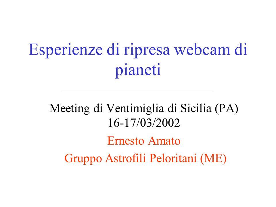 Esperienze di ripresa webcam di pianeti