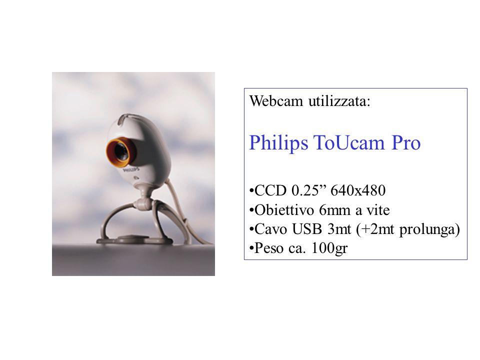 Philips ToUcam Pro Webcam utilizzata: CCD 0.25 640x480
