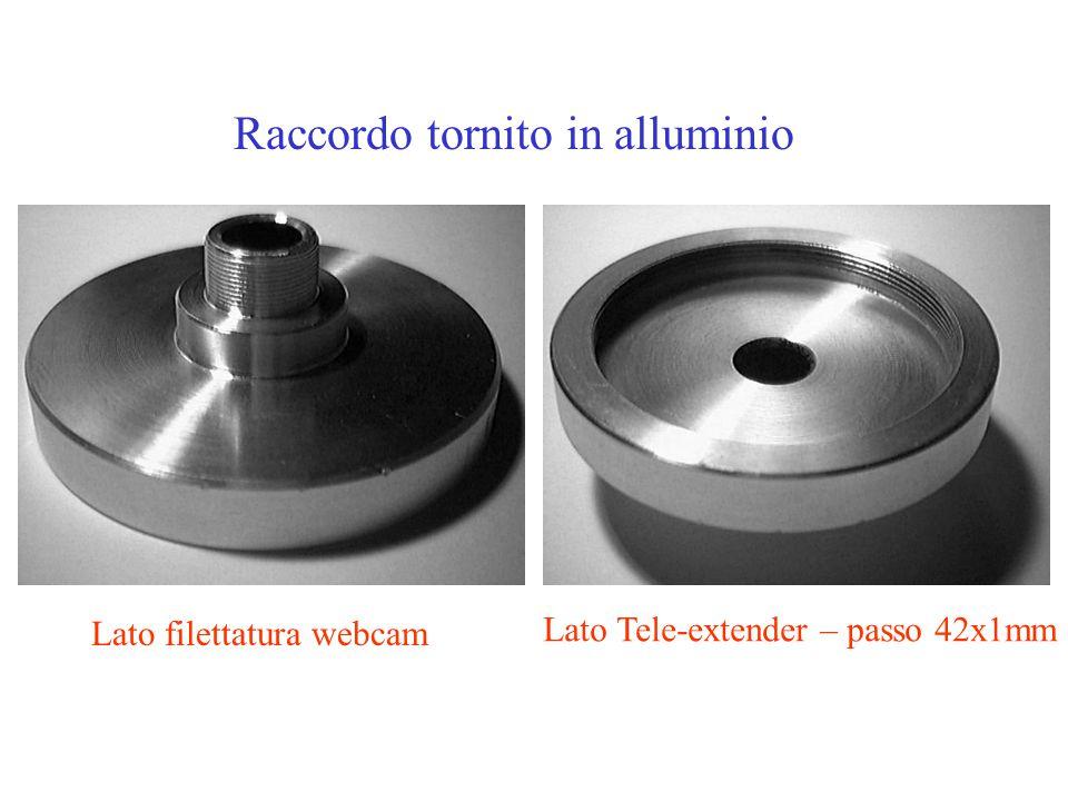 Raccordo tornito in alluminio