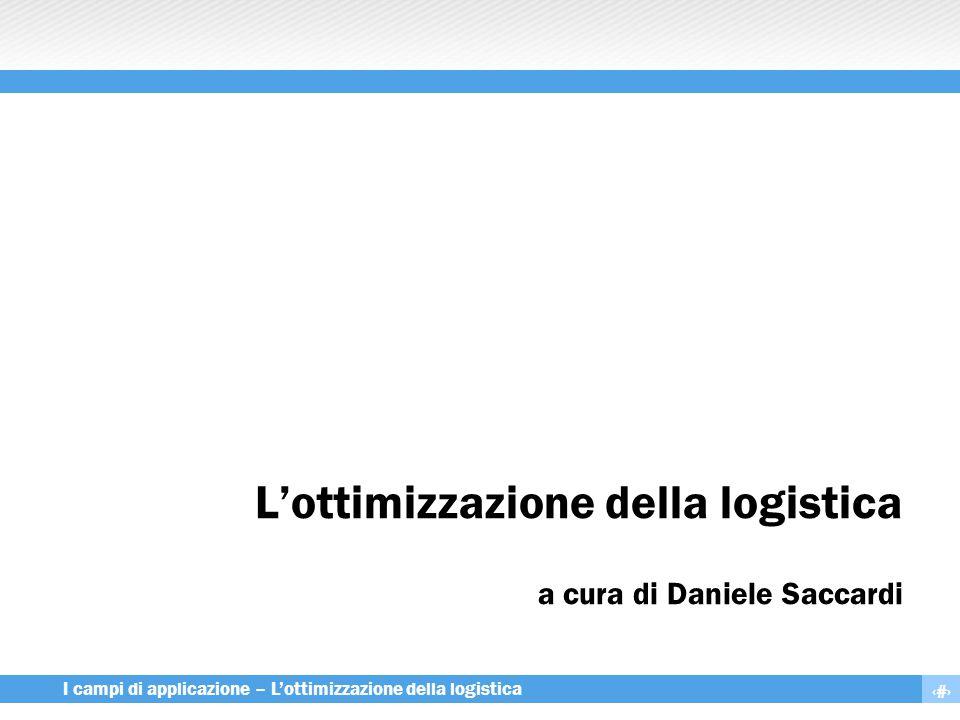 L'ottimizzazione della logistica a cura di Daniele Saccardi