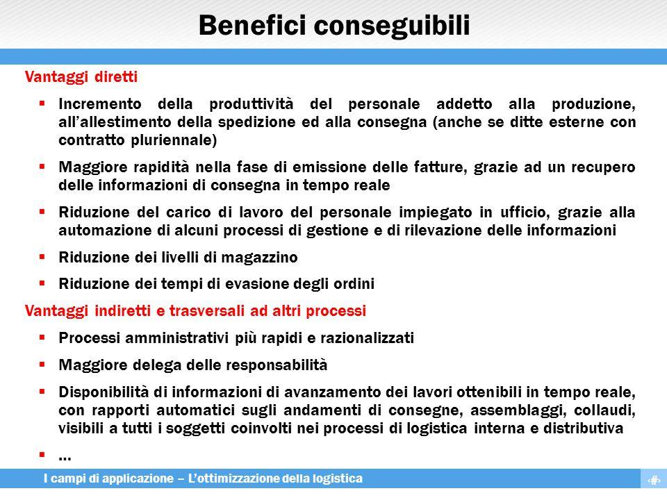 Benefici conseguibili