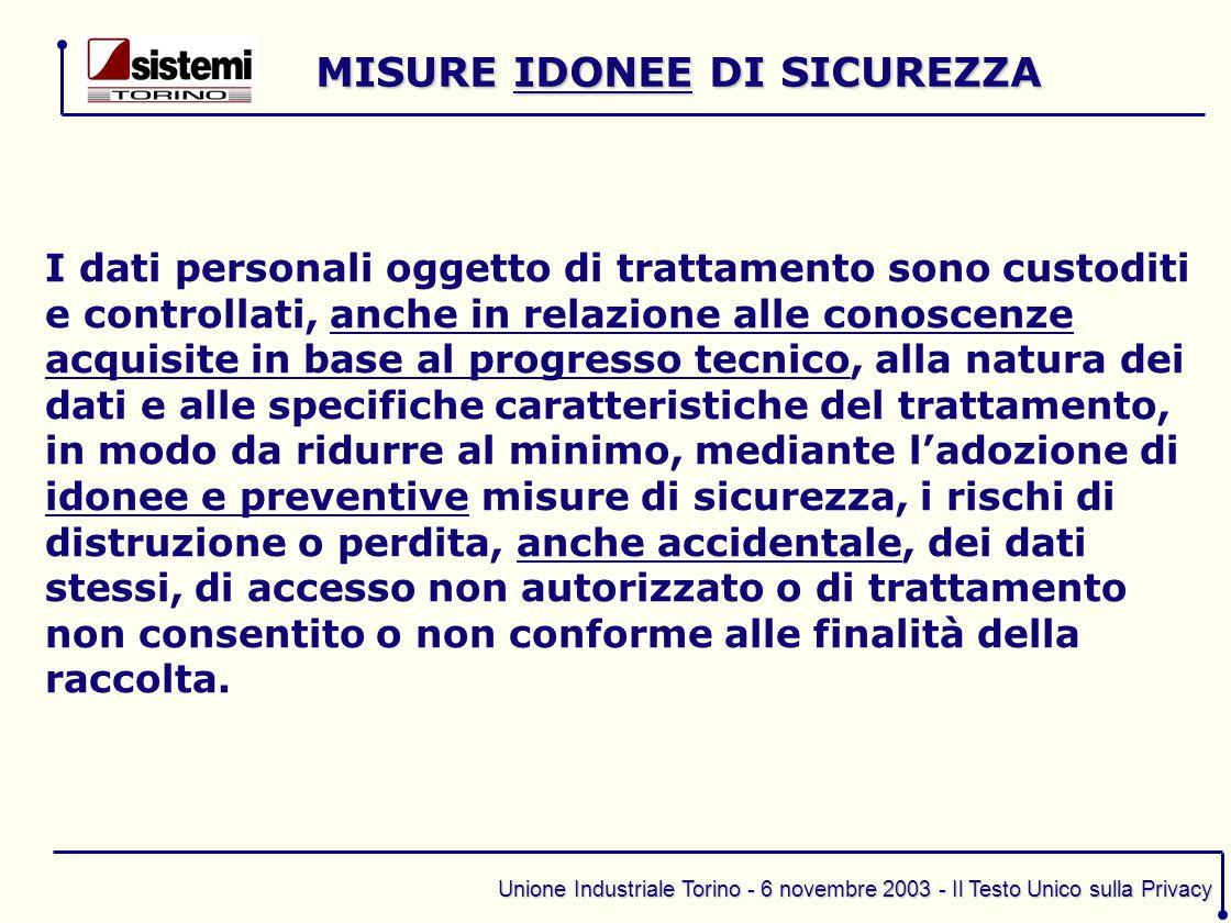MISURE IDONEE DI SICUREZZA