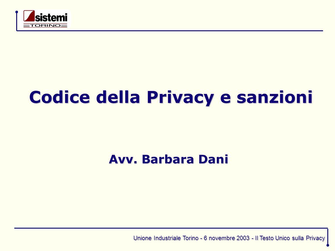 Codice della Privacy e sanzioni