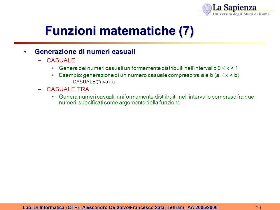 Funzioni matematiche (7)