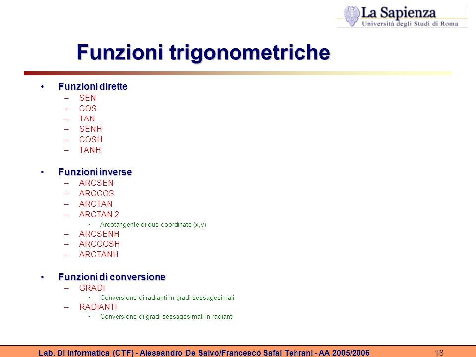 Funzioni trigonometriche