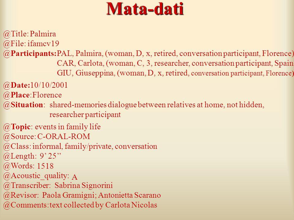 Mata-dati @Title: Palmira @File: ifamcv19 @Participants: