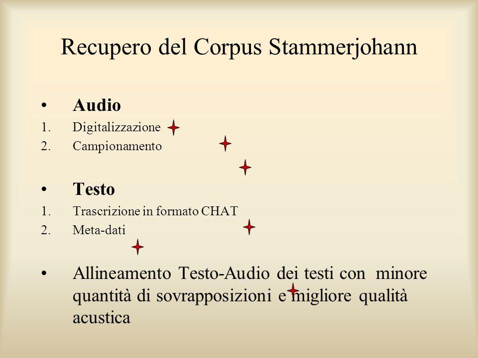 Recupero del Corpus Stammerjohann